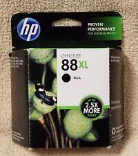 HP 88XL BLACK Ink Inkjet Print Cartridge C9396AN New Genuine Sealed OEM Nov 2015