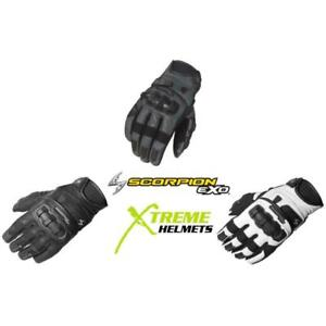 Scorpion Klaw II Mens Gloves Leather Pre-curved Palm/Finger TPU Knuckle S-3XL