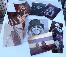 Lot of 22 vtg Fleetwood Mac Steve Nicks glossy photos 8x10, 6x4