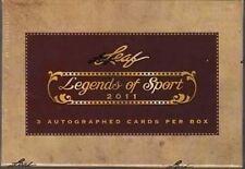 2011 Leaf Legends of Sport Multi-Sport Factory Sealed Hobby Box -3 Autos Per Box