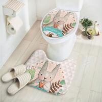 2pcs Set Bathroom Rug Shower Curtain Bath Mat Piece Towels Toilet Carpet New Hot