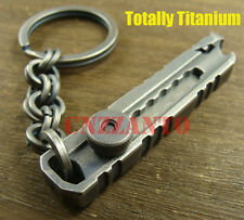Totally Titanium Ti EDC Key double-ring chain folding paper knife bottle opener