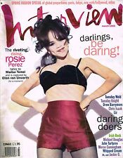 INTERVIEW March 1993 ROSIE PEREZ Drew Barrymore TUESDAY  KNIGHT Craig Sheffer