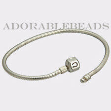 """Authentic Chamilia Sterling Silver Bracelet with Snap Lock 6.7"""" BA-1"""