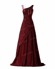 Damen Langes Abendkleid Ballkleid Partykleid Formal Cocktailkleid Hochzeit Kleid