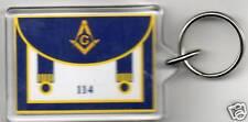 Masonic Apron Keyring *****FREE PERSONALISATION*****