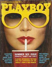 PLAYBOY AUGUST 1982-A -CATHY ST. GEORGE - AKIO MORITA  !!!
