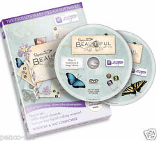 Papermania Beautiful digital designer 2 disc set DVD CD Rom  Flowers butterflies