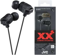 JVC HA-FX102 BLACK In-Ear Headphones Xtreme Bass Original / Brand New