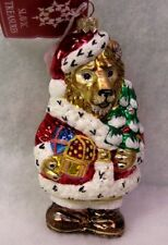 New Slavic Treasures Retired Glass Ornament - Lion Santa 2002