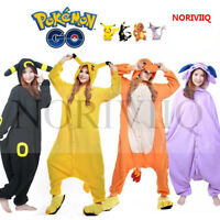 Hot Cosplay Pokemon Animal Pajamas Adult Unisex Kigurumi Hooded Sleepwear