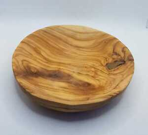 olive wood plates from holy land size 12cm hand made round plate from olive wood