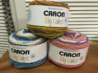 New Caron Big Cakes Yarn 10.5 oz Set Of 3