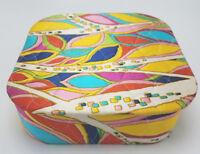 Vintage Emilio Pucci Design Make Up Box Sewing Box Trinket Box Stunning