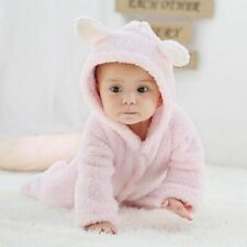 Toddler Newborn Baby Boy Girl Hooded Romper Jumpsuit Bodysuit Outfits Clothes US