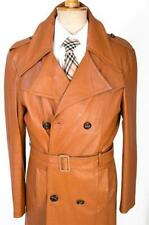 Unbranded Leather Double Breasted Coats & Jackets for Men