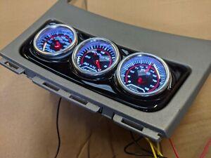 BMW 1 Series E81 E82 E87 E88 Centre Console Gauge Holder 52mm - Gloss Black ABS