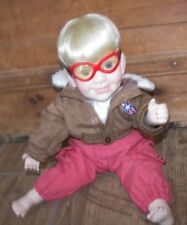 "1991 Danbury Mint ""Tommy"" Aviator Pilot Doll By Elke Hutchens Mint Condition"