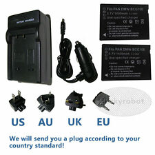 2XDMW-BCG10 Battery+Charger For Panasonic Lumix DMC-ZS10 DMC-ZS8 DMC-ZS7 DMC-ZS6