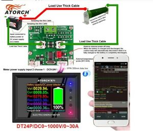 DC Power Supply Voltmeter Ammeter Battery Capacity Tester Meter DT24-BLE 30A