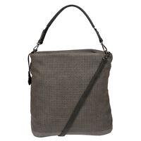 XL Große Damen Tasche Schultertasche Umhängetasche Shopper Leder Optik Grau NEU