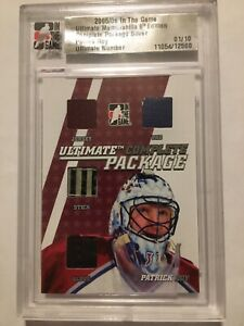 PATRICK ROY 2005-06 COMPLETE PACKAGE JERSEY PATCH STICK PAD PRIME SP 01/10
