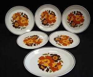 Vintage Johnson Bros Cabana Dinner Plates x 5 Plus Oval Platter