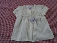 ZARA BNWT baby girls cream vintage style top age 9-12 months