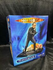 """WETA BBC  DOCTOR WHO ROGER DELGADO """"THE MASTER AND AUTON"""" STATUE FIGURE BUST"""