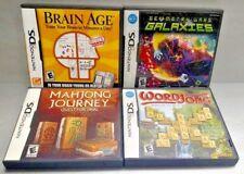 Disney Game Lot Brain Age, Geometry, WordJong, Mahjong - Nintendo DS DS Lite 3DS