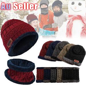 2 in 1 Child Cap kids Girl Winter Warm Knitted Beanie Soft Hat Scarf Set Baby
