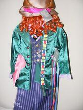 Disney Store Alice in Wonderland Mad Hatter Costume Plus Hat Child Size 4