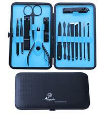 Amedeo Exclusivo Azul Unisex de Acero Inoxidable de 15 piezas Juego de Manicura & Pedicura