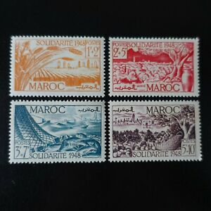 FRANCE COLONIE MAROC N°271/274 NEUF ** LUXE MNH