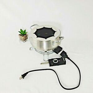 Cuisinart Electric Fondue Pot Maker Set Stainless Steel 3 Quart Model CFO-3SS