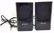 SONY Portable Travel Mobile Accessory Speakers BLACK SRS-M30 Laptop Notebook 2x4