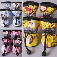 4Pcs Dog Cat Rain Protective Boot Waterproof Puppy Pet Shoes Boots Anti-Slip