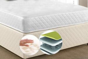 QUALITY 3ft Single Memory Foam Spring Mattress