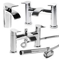 Bathroom Chrome Taps Lever Bath Filler Shower Mixer Basin Mono Sink Tap
