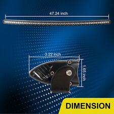 50''in 240W Curved Single Row LED Light Bar Toyota Chevrolet Truck forklift 250W