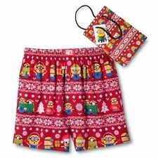 New Mens Size Large Despicable Me Minions Boxers with Gift Bag
