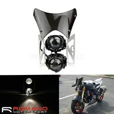 Streetfighter Projector Twin Dual Headlight Motorbike Motorcycle E-marked 1 Set