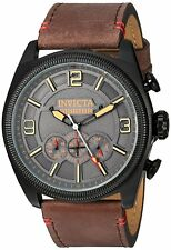 Invicta 22988 Aviator Men's 47mm Chronograph Stainless Steel Charcoal Dial Watch