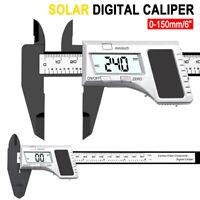 Solar Power Digital Vernier Caliper Electronic LCD Gauge Micrometer Tool 150mm