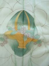 Pair of Antique 1930s Pre-Stamped Quilted Boudoir Pillows To Embroider & Quilt