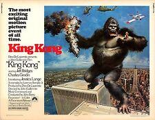 King Kong 1976 US half-sheet original movie poster Jessica Lange