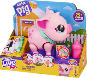 LITTLE LIVE PETS MY PET PIG PIGGLY ELECTRONIC PET TOY WITH SOUNDS