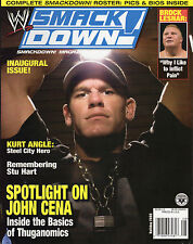 WWE SMACKDOWN MAGAZINE ISSUE 1 JOHN CENA COVER WRESTLING BROCK LESNAR