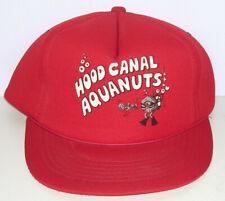 Vtg Hood Canal Aquanuts Shelton Wa Cap Oysterfest Dive Scuba Diver Puget Sound