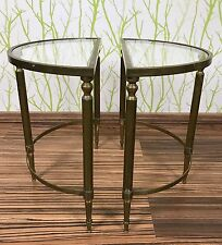 50er 60er anni saliscale Ottone Brass side Tables 60s 50s design France